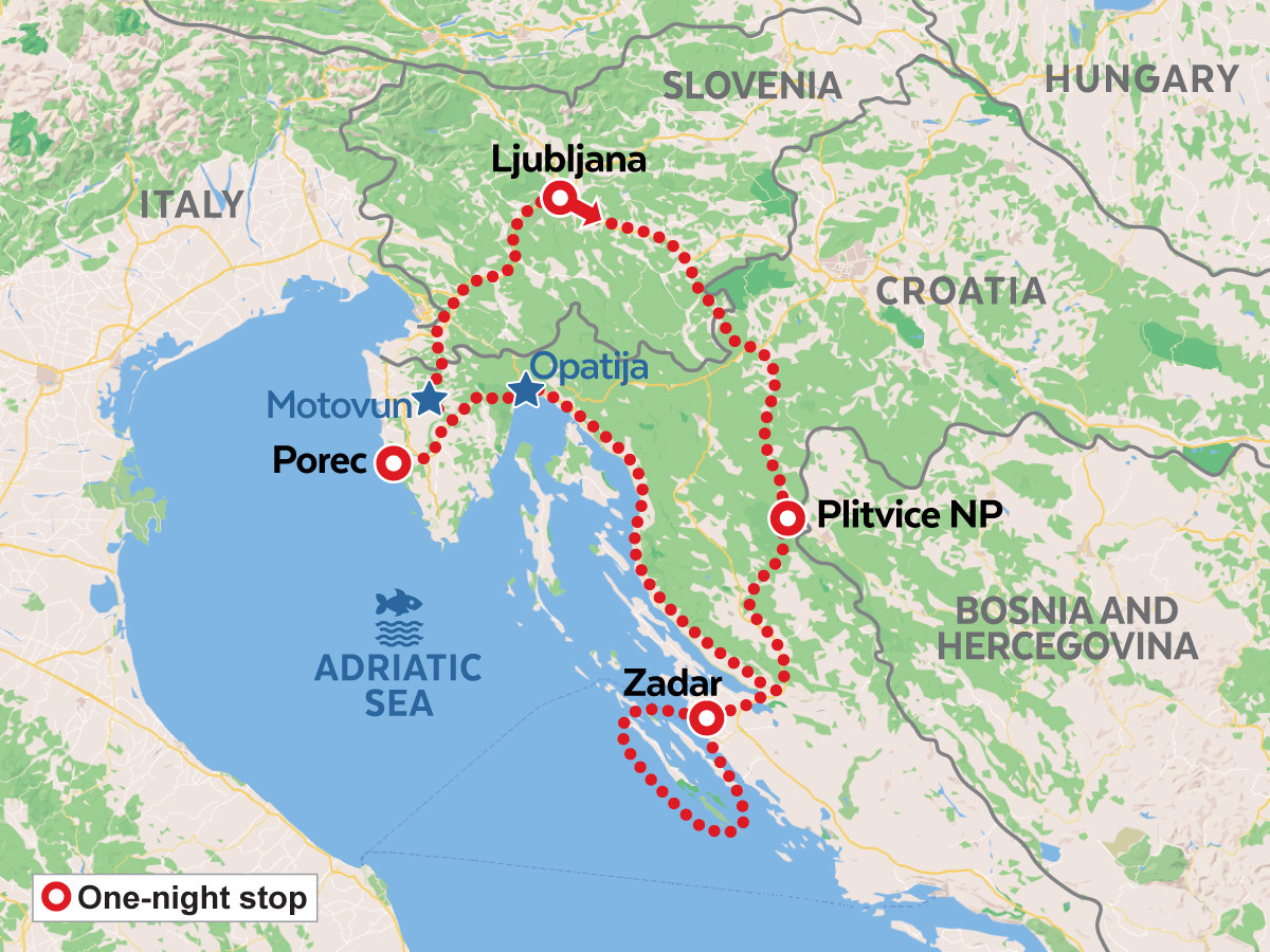 Short ADRIATIC RIVIERA self-guided tour